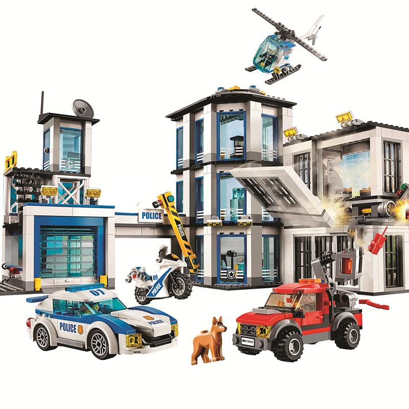 New City Police Station 60141 Christmas Gifts Building Block Bricks Toys For Children
