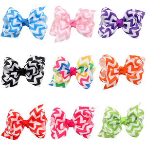 Hair Accessories For Girls Hairclips Lovely Sweet Baby Girls Bowknot Hairpin Headdress Stripe Printting Ribbon Hair Clips