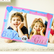 Gender Reveal Photo Frame Props Boy or Girl Photo Booth Props for 1st Birthday Gender Reveal Baby Shower Decoration Supplies 10pcs diy photo frame wooden clip paper picture holder wall decoration for wedding baby shower birthday party photo booth props