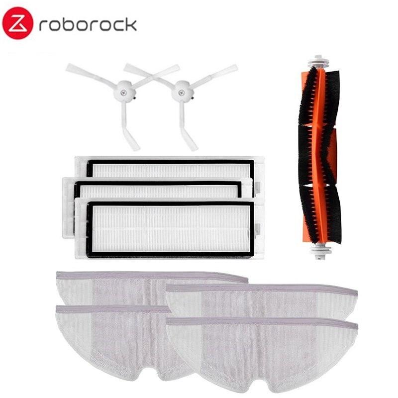 Roborocka mi 10 pçs escova principal filtro hepa escova lateral mop panos kit acessórios para robô roborock s50 s51 s55 roborock 2 xiaowa