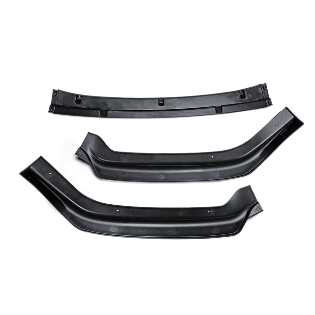 1 Set Car Front Bumper Lip Cover Auto Exterior Parts 3pcs Gloss Black Front Bumper Trim for Hyundai Sonata Hybrid 2018 5