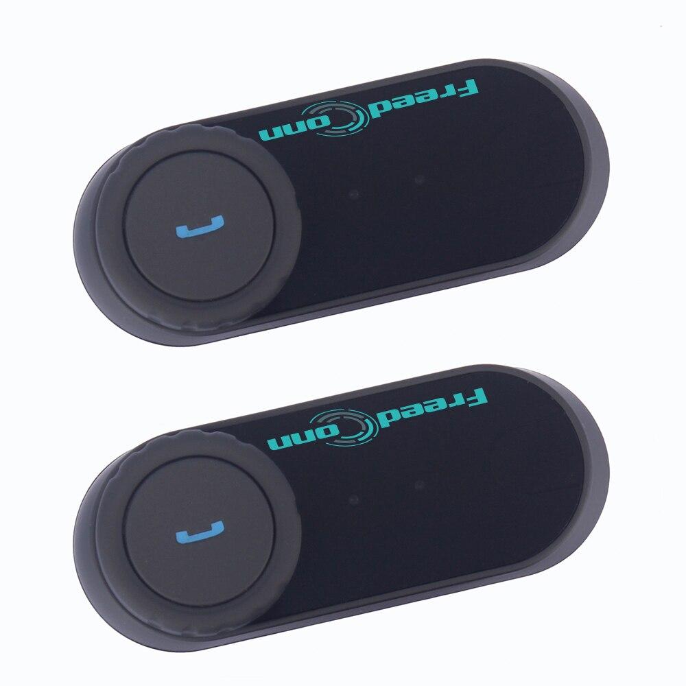 2 Pcs Freedconn Original T-COM VB Bluetooth Motorcycle Helmet Intercom BT Interphone Headset With FM Radio Helmet Earphone