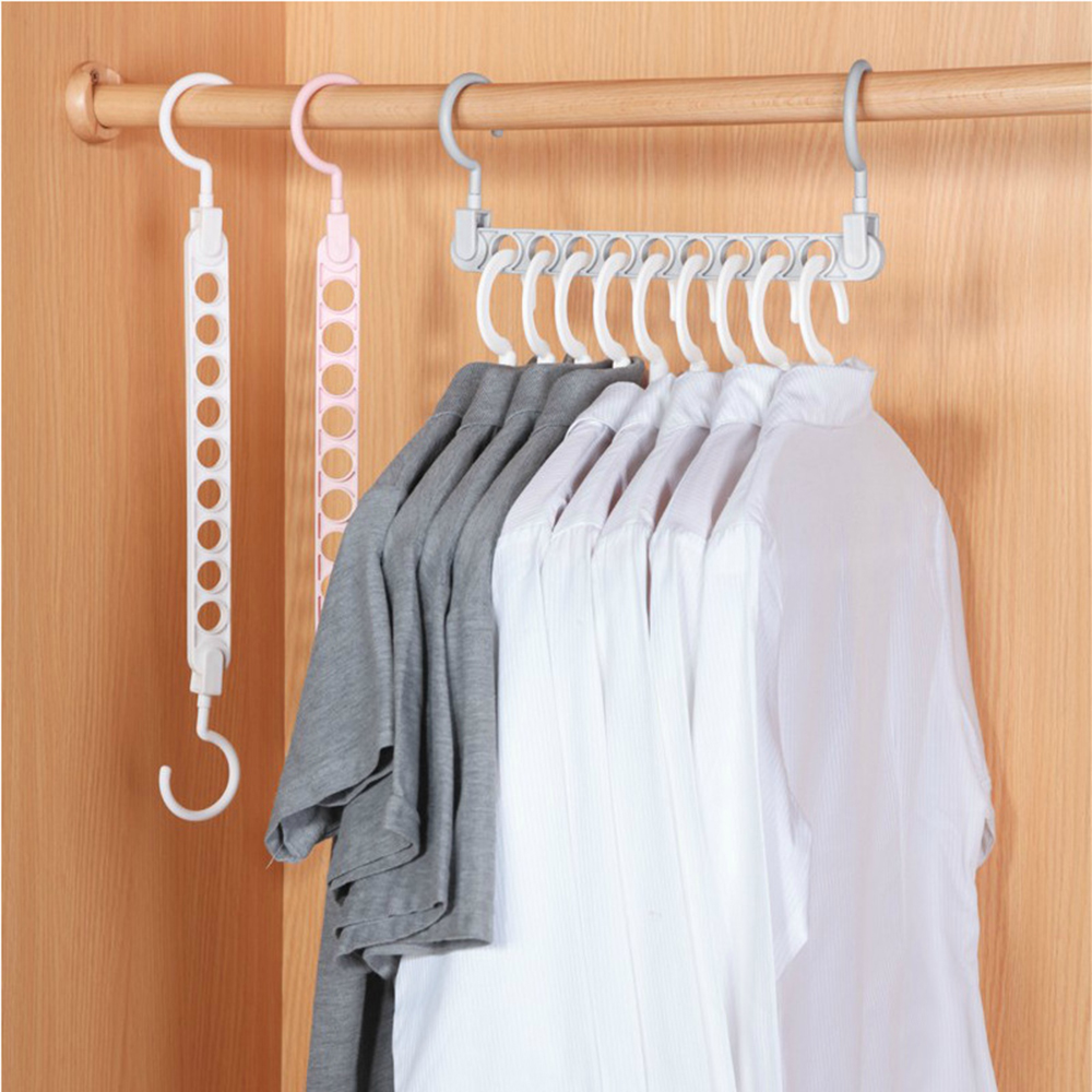 2PC Magic Metal Wonder Hanger Closet Space Saver Organizer Rack Clothes Hook Hot