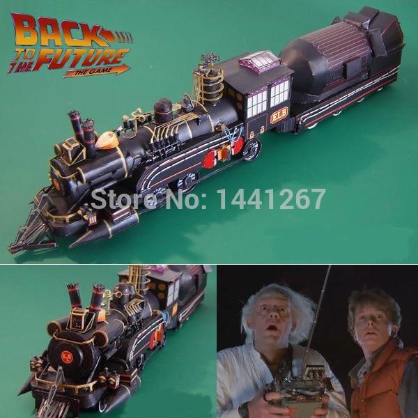 Набор поездов доктор Барлетт из фильма «Назад в будущее», классическая 3D бумажная модель, рельсовый станок, бумажные ремесла, модели, игрушк...