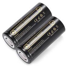 Liitokala 2 unids 26650-50a 5000 mah 26650 batteria li-ion 3.7 v recargable para la linterna 20a