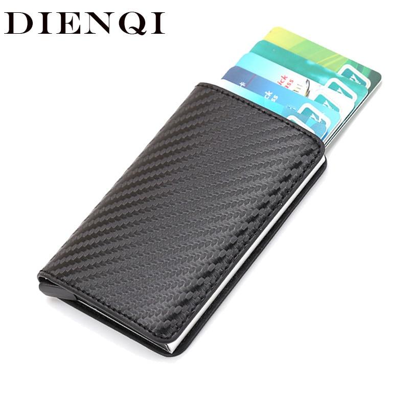 DIENQI Rfid Smart Card Men Wallet Money Bag Male Vintage Black Purse 2019 Small Magic Mini Slim Wallet Walet Thin Portfel Vallet