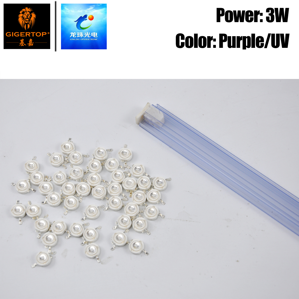Freeshipping 100PCS Purple UV Color <font><b>Led</b></font> Lamp 2 Feet LZ-3P45-022 Model China Supplier For <font><b>Par</b></font> Light Spare <font><b>Parts</b></font> Repair <font><b>Leds</b></font> image