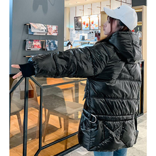 White Jacket Women Thick Long Winter Coat Women Hooded Korean Female Puffer Jacket Doudoune Femme AA-511