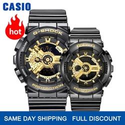كاسيو ساعة ساعات الزوجين الرجال والنساء موضة ساعة رياضية مقاوم للماء شكل إلكتروني مجموعة GA-110GB-1A BA-110-1A