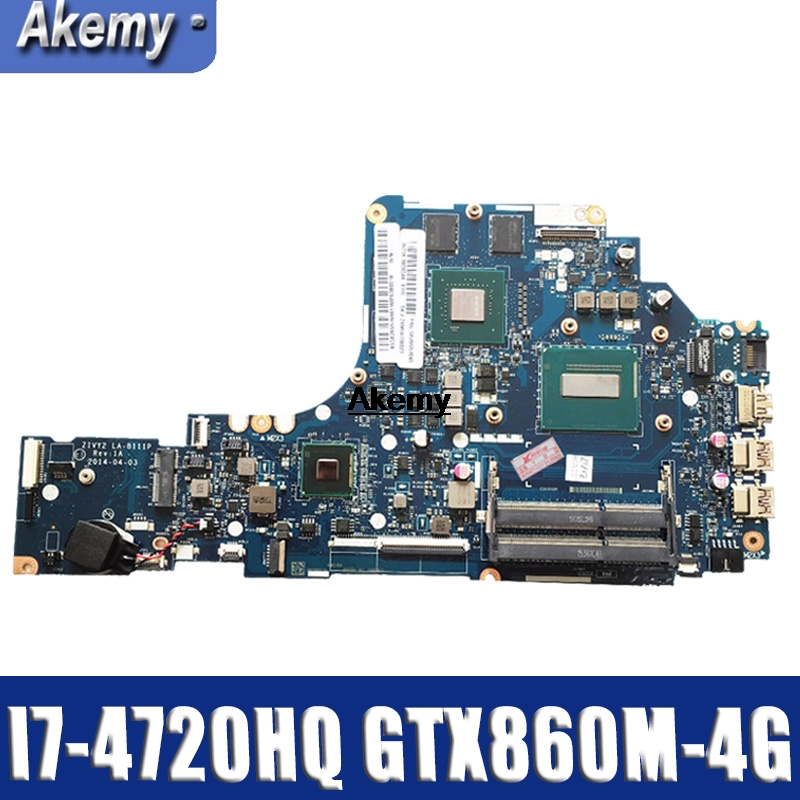 GT LA-B111P Laptop Motherboard For Lenovo Y50-70 Mainboard Original I7-4720HQ/4710HQ GTX860M-4G