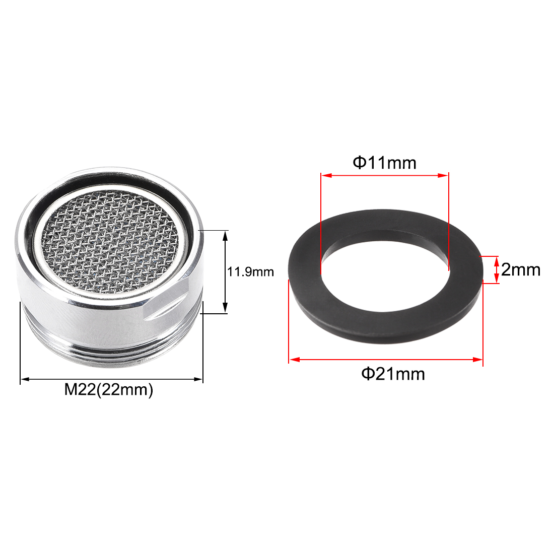 Uxcell Faucet Aerator M22 Male Thread Bathroom Kitchen Faucet Aerator Replacement Part