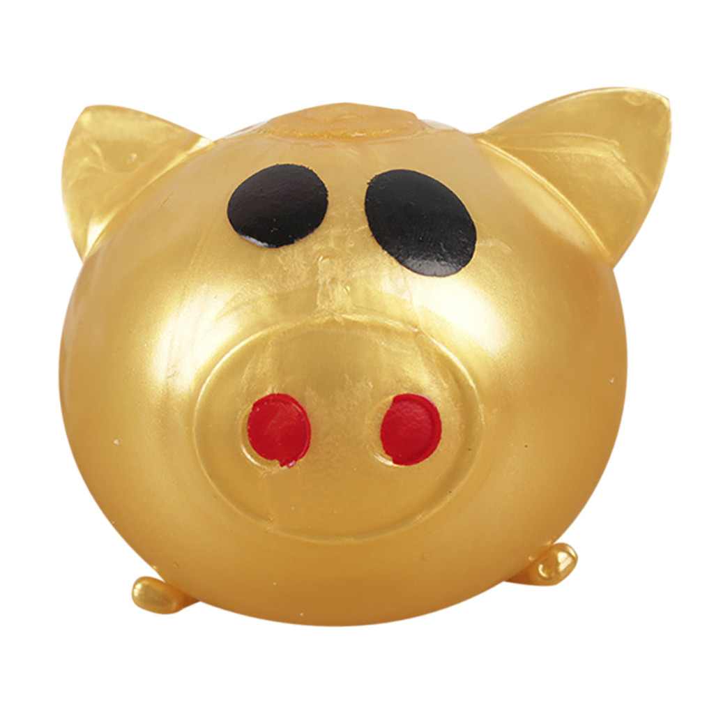 1Pc Jello Pig Cute Anti Stress Splat Water Pig Ball Vent Toy Venting Sticky Pig Decompression Splat Ball Pig Toys For Kids&adult