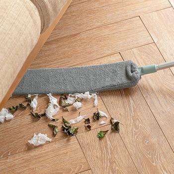 Limpiador de polvo de mesita de noche con mango largo, cepillo de limpieza mágico de microfibra para la cama y el espacio inferior, herramientas de limpieza del hogar