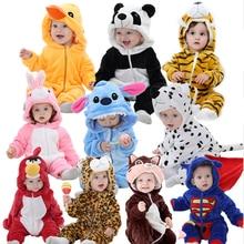 Idgirl/ милый мультфильм фланель детские комбинезоны новинка кролик хлопок Для мальчиков и девочек животных комбинезон стежка комплекты для малышей Детские костюмы