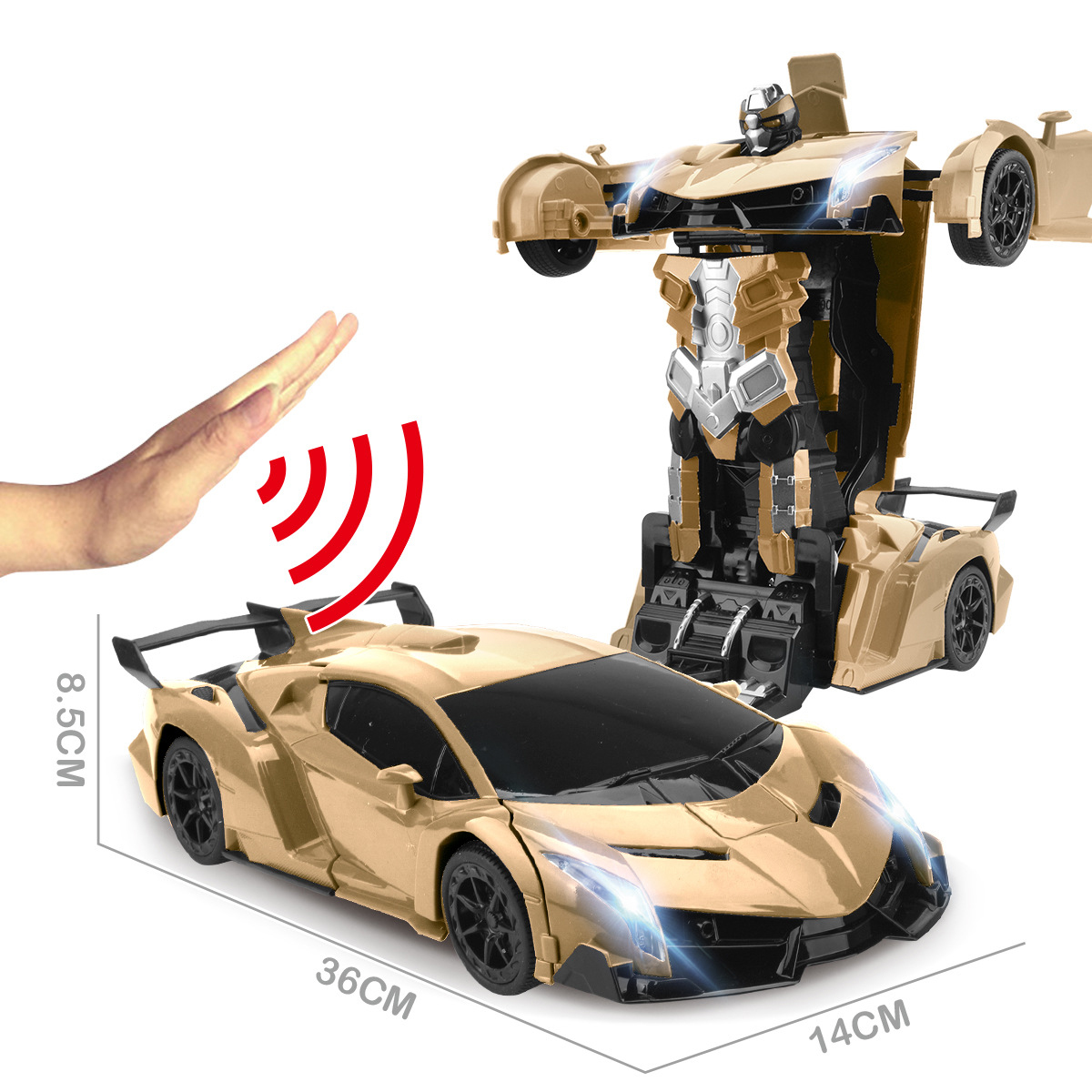 36cm 1:12 RC Car Robot 2.4Ghz Induction Transformation Fighting Robots  Modles Deformation Remote Control Cars Toy Gift for Boys
