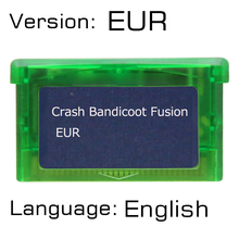 32 бит видеоигры Краш Bandicoot Fusion картридж Консоли Карты EUR версия Английский язык