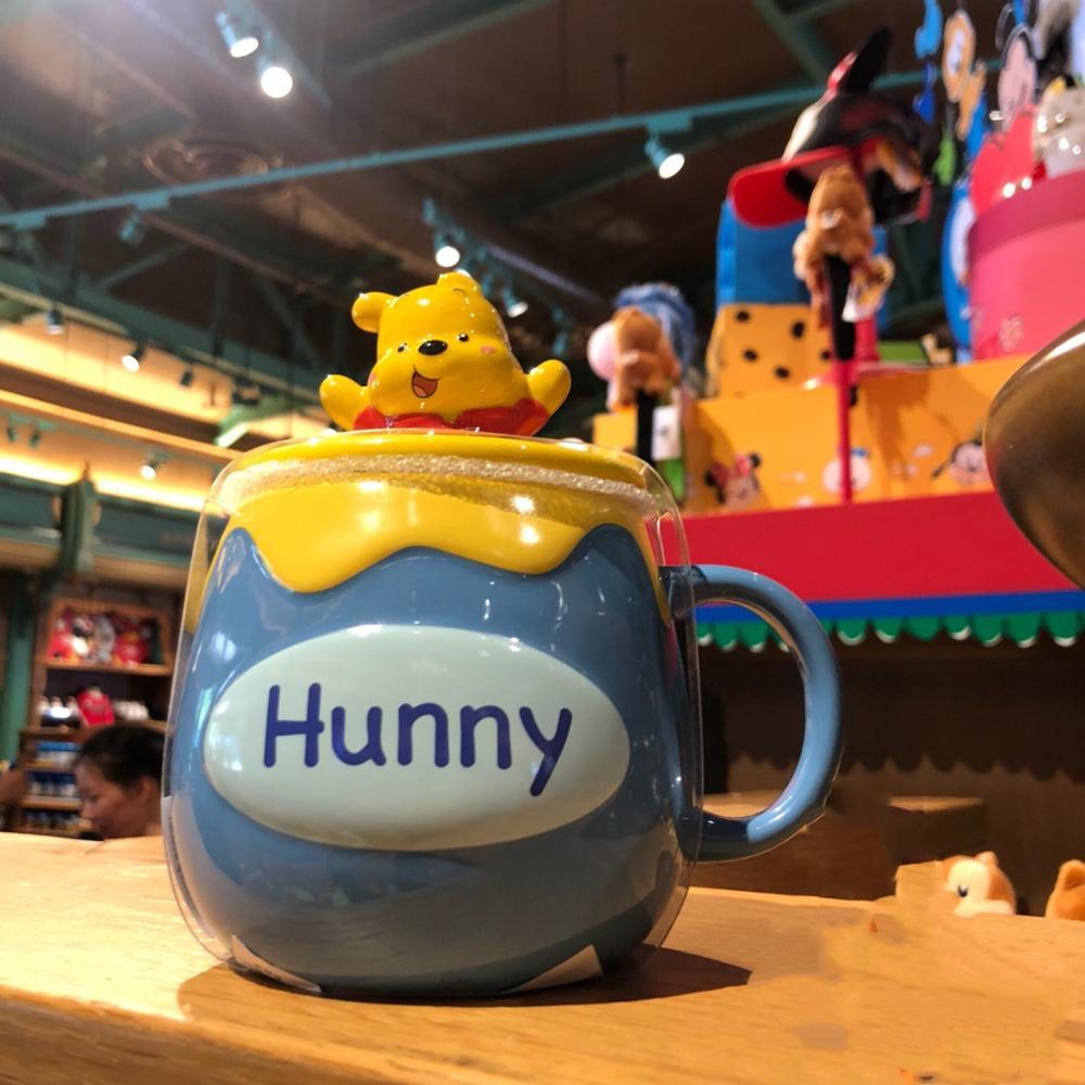 500ml Disney Cute Winnie The Pooh Cartoon Mug Large Capacity Ceramic Cup Coffee Milk Tea Breakfast Water Cup Festival Gifts Mug