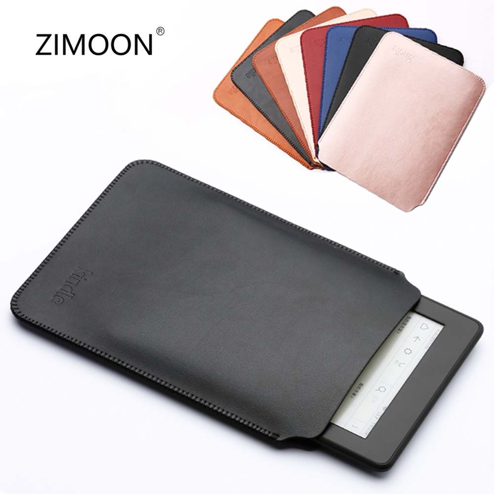 6' Tablet Sleeve Bag PU Leather Case For Amazon Kindle Paperwhite 2 3 Kindle 8 Th Voyage Cover E-book Pouch For Kindle 6 Inch