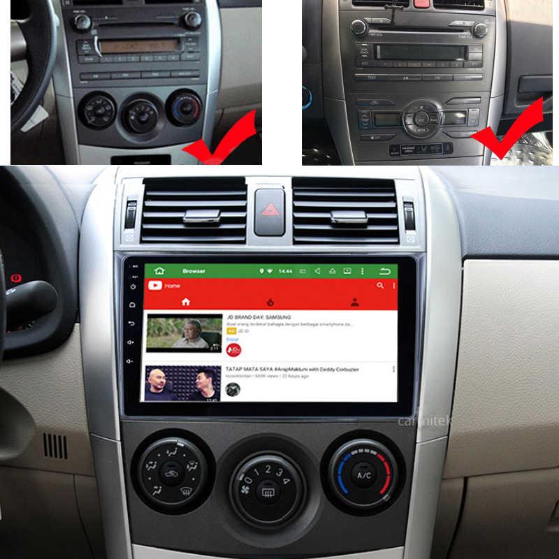 Android のカーラジオマルチメディアプレーヤートヨタカローラ E140/150 2006 2007-2009 2010 2011 2012 2013 GPS ナビゲーション