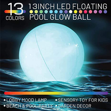 Pool Toys LED Beach Ball with Remote Control 13 Colors Lights and 4 Light Modes Outdoor Pool Beach Party Games for Kids Adults