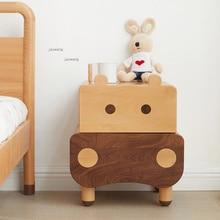 Table Nightstands Storage-Cabinet Bedside Bedroom Small Wood Apartment Kindergarten Kids