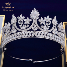 High-end Royal Queen Silver Tiaras Crowns for Brides Crystal Brides Hairbands Full Zircon Wedding Hair Accessories Headpieces top quality sparkling zircon oversize royal queen hairbands gold tiaras crowns crystal wedding hair accessories gift for brides