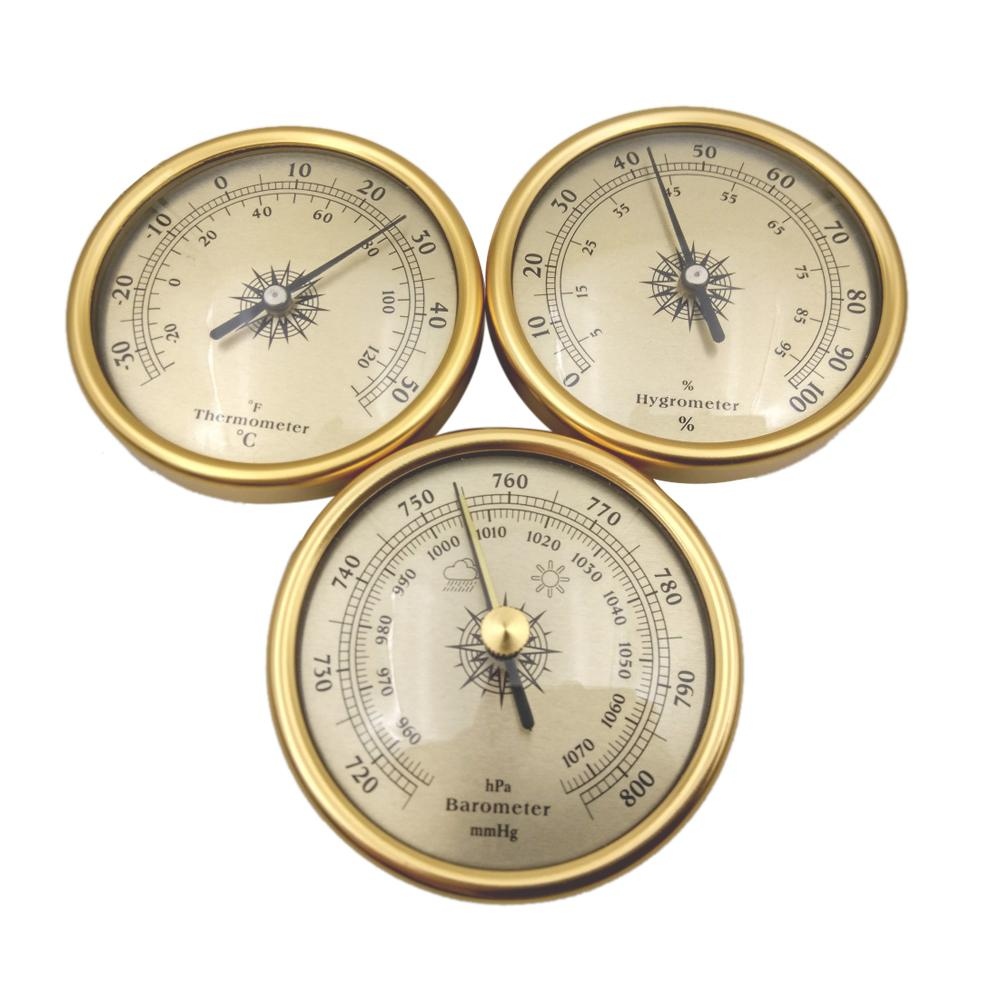 3 IN 1 Air Pressure Gauge Thermometer Moisture Meter Barometer Hygrometer For Weather Forecast Weather Station Test Tools Set