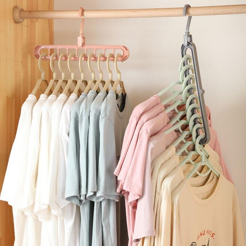 Cintres De Support Multiports Pour Vêtements, étui De Séchage Magique 2 Pièces Cintres De Rangement Pour Vêtements En Plastique Multifonctions