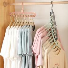 Magiczny multi uchwyt na wieszaki, wieszanie ubrań, suszarka, wielofunkcyjny, plastikowy, przechowywanie odzieży, 2 szt.