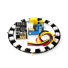 ESP8266 ESP-01 ESP-01S RGB LED Controller Module for Arduino IDE WS2812 WS2812B 16 Bits Light Ring Smart Electronic DIY