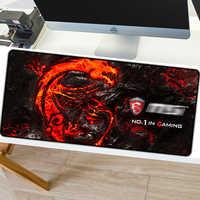 80*30cm Gaming Maus Pad Große XL Dragon Logo Computer Mousepad XXL Gummi Schreibtisch Matte für Laptop für LOL Dota 2
