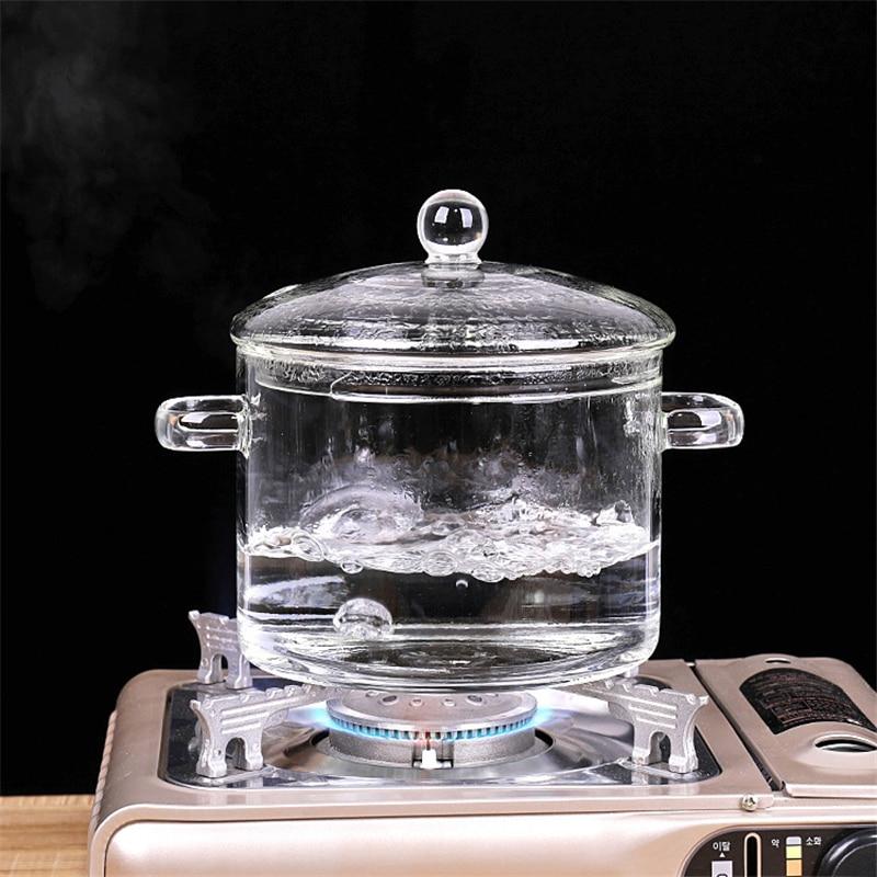 Кастрюля из боросиликатного стекла, креативная кастрюля для горячего супа, мини-кастрюля, кастрюля для закипания супа, варочная панель, кух...