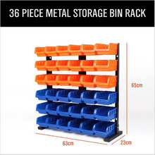 36pc tool Parts box Storage Rack Shelving Garage Hardware sc
