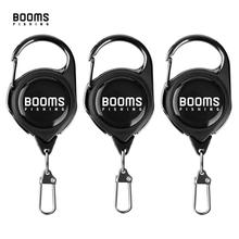 Booms Fishing RG1 Fly Fishing Retractor Tools Extractor Keeper Retractable Key Chain Reel Badge Holder Tackle Boxes Accessories