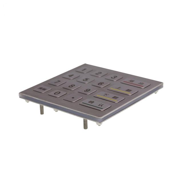 4x4 Matrix IP65 Waterproof Access control ATM Terminal Vending Machine Industrial Numeric Metal Keypad Stainless Steel Keyboard 4