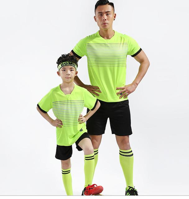 Football Survetement suits 2019 Adult Children Football Jerseys Sets custom Men boys Soccer Jerseys Set Short Training Tracksuit
