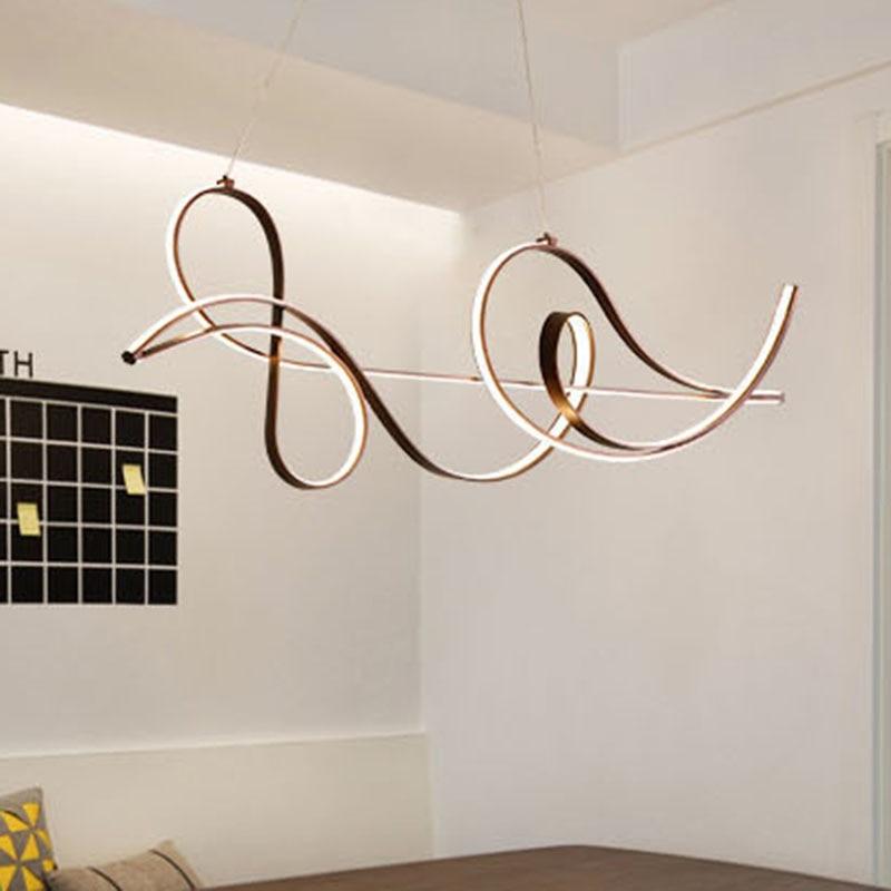 Moderne musical note anhänger lichter Für esszimmer wohnzimmer kaffee bar suspension leuchte Anhänger Lampe leuchten