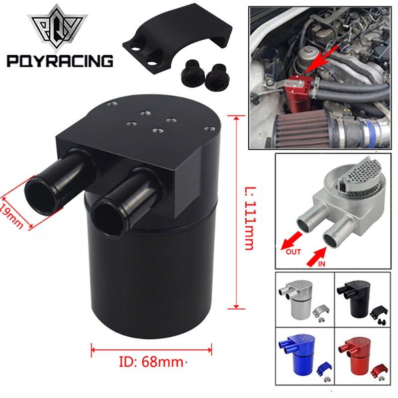 Pqy-Universele Aluminium Rerservoir Oil Catch Can Tank Voor Bmw N54 335 Zwart & Zilver & Red & blauw PQY-TK60