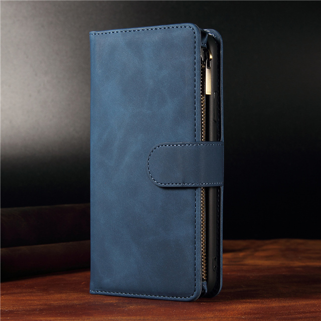 A51 A71 A81 A91 A11 A31 A70 A50 A40 S20 Ultra Leather Zipper Case For Samsung Galaxy S8 S9 S10 Note 9 10 Plus Lite A10 A20 Cover