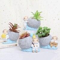 Bonito sloth suculenta vaso vaso vaso de flor recipiente desktop bonsai titular para decoração casa interior varanda decorações doniczka|Vasos e agricultores| |  -