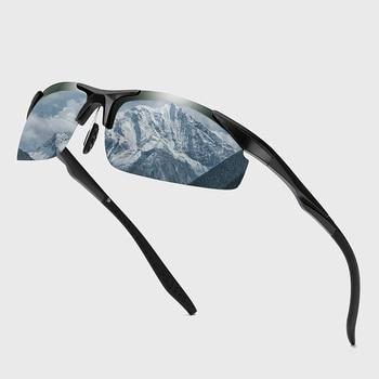 Driving Polarized Sun Glasses Plastic Titanium TR90 Frame Sports Sunglasses Men Driver Retro UV400 Anti-glare Goggles