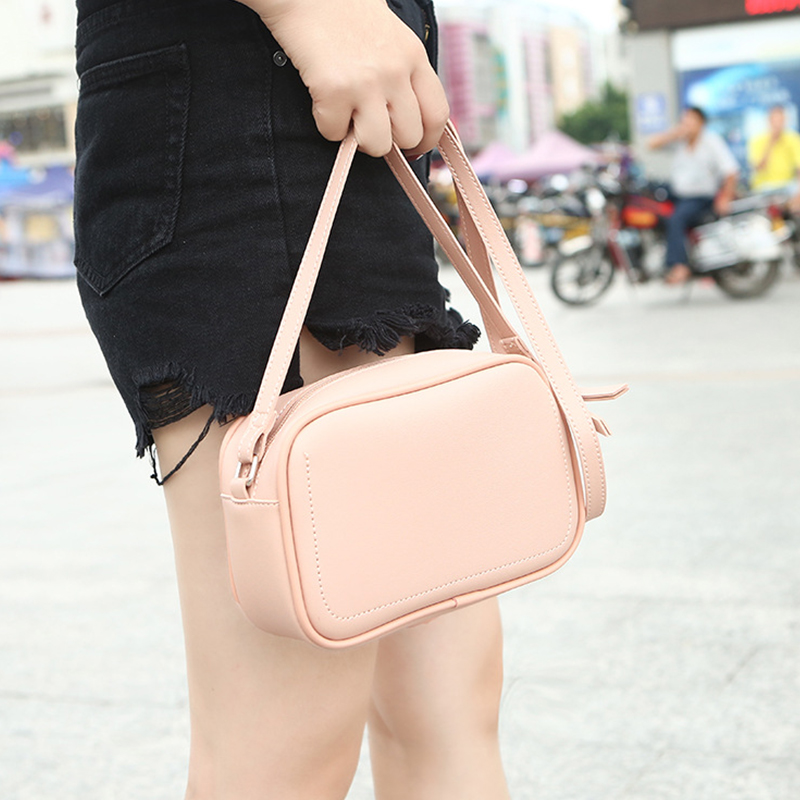 New Simple Obag Shoulder Bags for Girls Purse PU Leather Crossbody Bags Women Handbag Lady Retro Messenger Bag Mini Pouch Bag