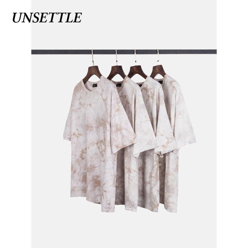 UNSETTLE 2020SS Men/Women Harajuku Tie Dye Tees Shirts Summer Casual Streetwear Tshirt Hip Hop Short Sleeve Tops Hipster T-Shirt