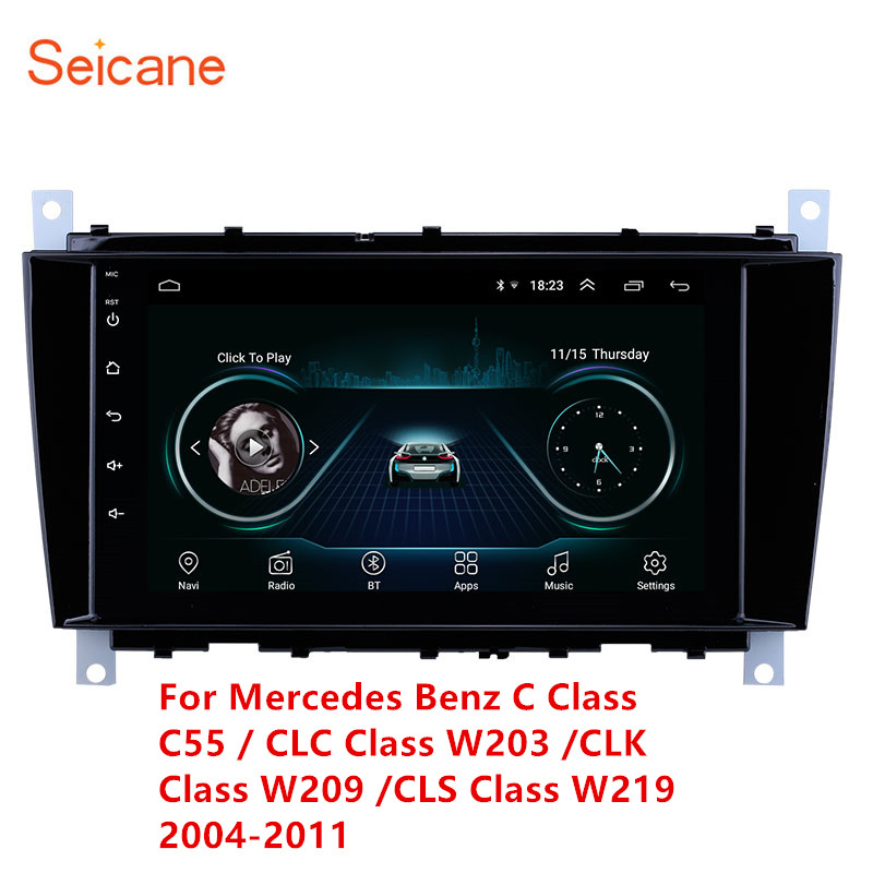Android 8.1 GPS Car Multimedia Player For Mercedes Benz C Class C55 / CLC Class W203 /CLK Class W209 /CLS Class W219 2004- 2011