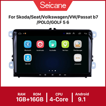 Seicane 9 Android 9.1 Car GPS Radio Head Unit Multimedia Player For Seat Toledo Leon VW Golf Polo Passat Tiguan Sharan Caddy image