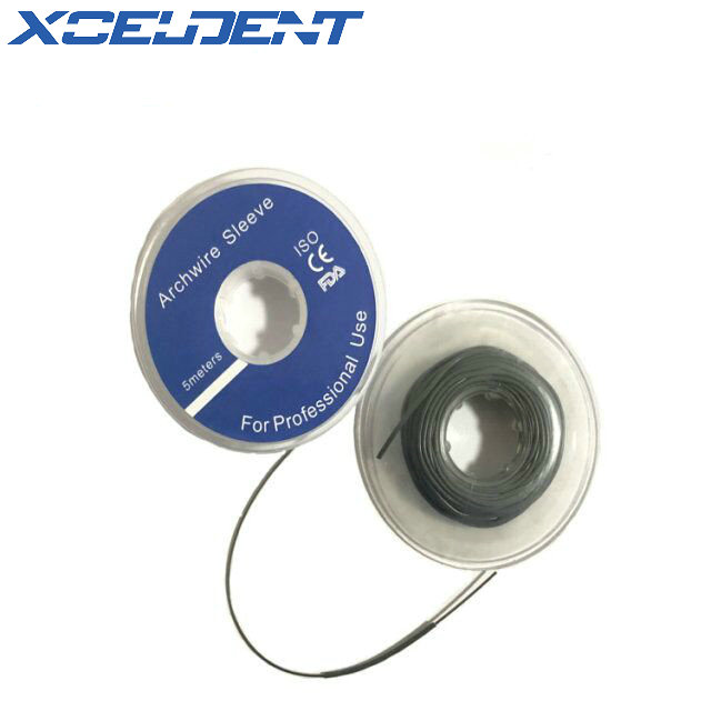 1Roll Dental Orthodontic Arch Wire Sleeves Gray White 5 Meter Fast Shipment
