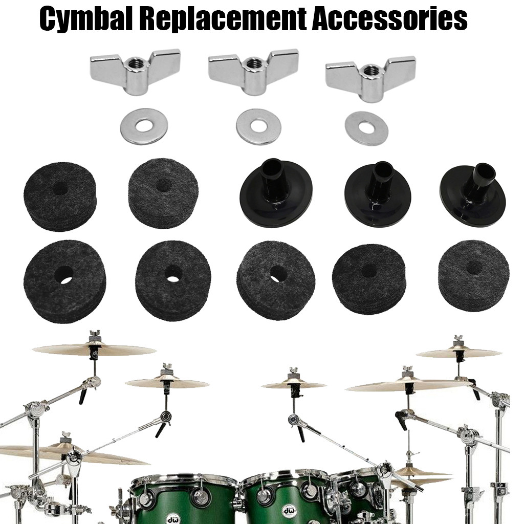 Snowshow Alternatively Fitting 18 Cymbals Cymbals Cymbal Holder Sleeve with A Felt Washer Base Cymbal Wing Nut Replacement for The Drum Kit Rational Presents