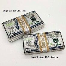 بوتيك دي FGG اليدوية كومة من النقدية الدولار المرأة المال حقيبة ماسك من الكريستال مساء حقائب كوكتيل عشاء المحافظ وحقائب اليد