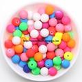 Смешанные матовые Резиновые Круглые шарики акриловые бусины-разделители шармы 6 8 10 мм выберите размер для изготовления ювелирных изделий ...