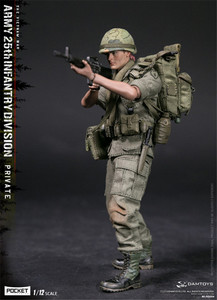 Image 2 - Damtoys Dam 1/12 PES004 Ons Leger Soldaat In Vietnam 25th Infantry Division Private Military Action Figure Collection
